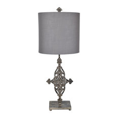 Asher 1 Light Table Lamp in French Iron