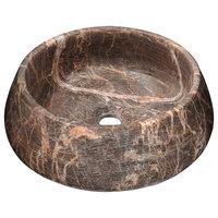 ANZZI Vestal Crown Natural Stone Vessel Sink, Khaki Coffee