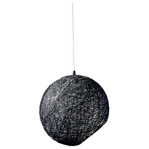 Hemisphere Hanging Globe Pendant Light, Black, Medium