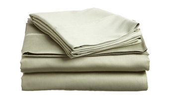 1500 Thread Count 4 Piece Sheet Set, Sage, King Size, Solid