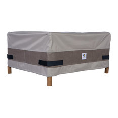 """Duck Covers Elegant 32"""" Rectangular Patio Ottoman/Side Table Cover"""