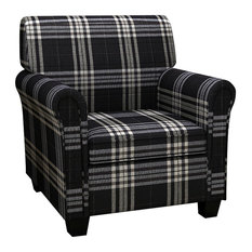 vidaXL - Sofa Chair Armchair Fabric Black Seat Cushion - Armchairs and Accent Chairs