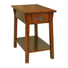 Mission Chairside Table in Russet