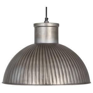 Antique Silver Industrial Pendant Light