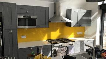 Yellow Glass Splashbacks