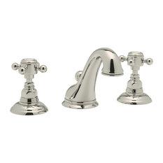 Country Bathroom Faucet Widespread Bathroom Faucet In Polished Nickel