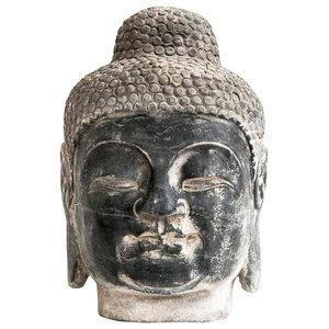 Stone Buddha Head Ornament