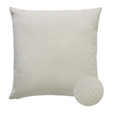 "Ocala Cream Diamond Pattern Decorative Pillow, 18""x18"""