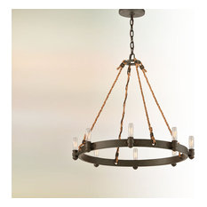 Pike Place, 8 Light Chandelier, Shipyard Bronze Finish