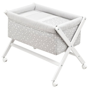 Lumino Cot, 87x55 cm, Grey, Without Canopy
