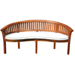 Transitional Outdoor Benches by Chic Teak
