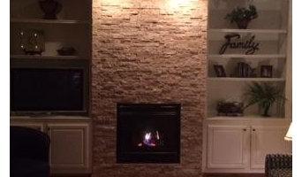 Smith stone fireplace