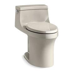 Kohler San Souci 1-Piece Elongated 1.28 GPF Toilet w/ Left-Hand Lever, Sandbar