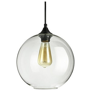 Sunlite Sphere Collection Pendant Vintage Antique Style Fixture Clear Glass