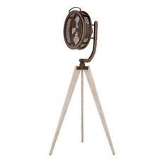 Mariana Portable or Freestanding Fan in Oiled Bronze