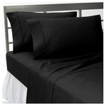 SCALA - 600-Thread Count 100% Egyptian Cotton Sheet Set, XL Twin, Black - Redefine your everyday elegance with these luxuriously super soft Sheet Set . This is 100% Egyptian Cotton Superior quality Sheet Set that are truly worthy of a classy and elegant look. Twin XL Size Sheet Set Includes1 Fitted Sheet 39 Inch (length) X 80 Inch (width) 1 Flat Sheet 66 Inch (length) X 96 Inch (width)2 Pillow Cases 20 Inch(length) X 30 Inch (width)