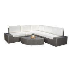 GDFStudio - 6-Piece Reddington Outdoor Sofa Sectional Set - Outdoor Lounge Sets