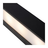 Modern Sleek Wall Lamp 35cm Black - Houx