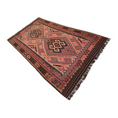 """Rust Chocolate Color Persian Rug, 4'10""""x8'6"""""""