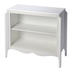 Butler Wilshire Glossy White Bookcase