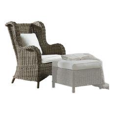 Panama Jack Exuma Occasional Chair With Cushion, Kubu Gray, No Ottoman