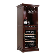 mQuvée Wine Cabinets - American Oak 72H Brown