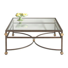 Chelsea House Coffee Table, Bronze, Gold Accents