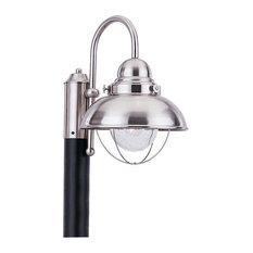 Sea Gull Lighting 8269 Sebring 1 Light Outdoor Post Light - Brushed Stainless