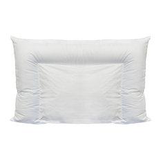 Angel Silk Crescent Premium Down Like Plush Pillow, King