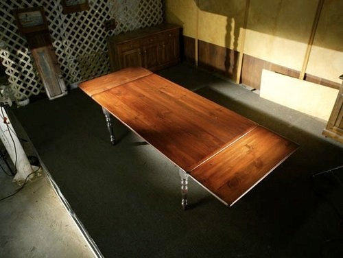 10u0027ft Rustic Farm Tables With Extensions And Brown Cherry Top   Dining  Tables