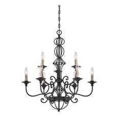 Designers Fountain 85589-NI 9-Light Chandelier
