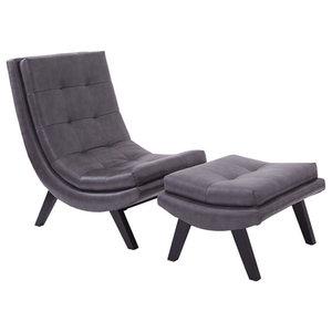 Terrific 5Th Avenue Armless Swayback Lounge Chair Midcentury Spiritservingveterans Wood Chair Design Ideas Spiritservingveteransorg