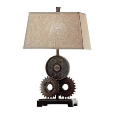 50 most popular industrial table lamps for 2018 houzz crestview collection crestview gears table lamp table lamps greentooth Images