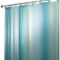 InterDesign Blue and Green Ombre Shower Curtain