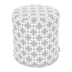 Outdoor Gray Links Small Pouf