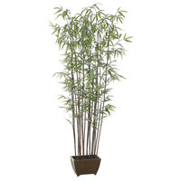 Set of 2 Potted Artificial Bamboo Wall Trees 6'