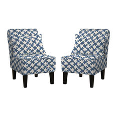 MOD   Mila Accent Chairs, Set Of 2, Blue   Armchairs And Accent Chairs