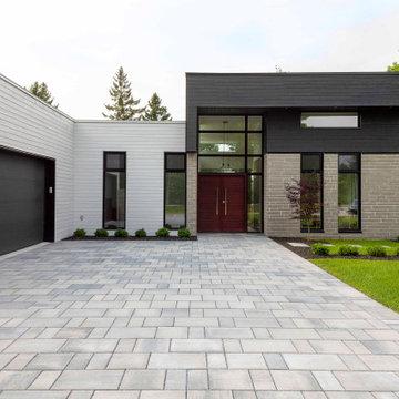 Cowansville Modern Driveway Design