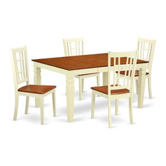 5-Piece Dinette Set With A Dinning Table And 4 Wood Chairs Buttermilk
