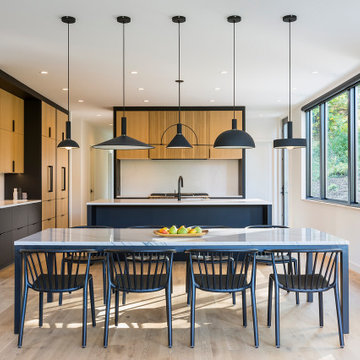 Scandinavian Modern Dining Area and Kitchen