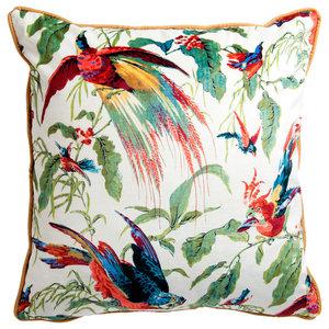 V&A Floral Velvet Cushion, Chintz