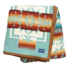Pendleton Chief Joseph Aqua Throw Blanket
