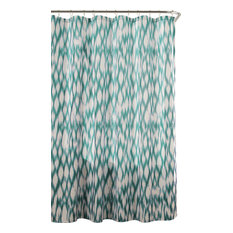 Duck River Textile, Kensie, Lala + Bash   Kensie Caitlin Shower Curtain,  Teal