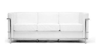 White Le Corbusier Petite Sofa