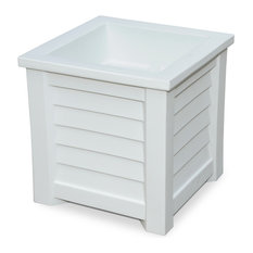 Mayne Inc. - Lakeland 20x20 Planter, White - Outdoor Pots And Planters