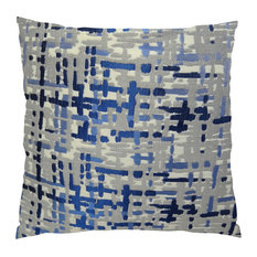 """Plutus Abstract Plaid Handmade Throw Pillow, Double-Sided, 20""""x36"""" King"""