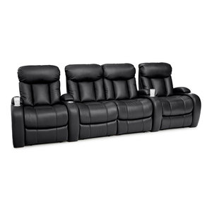 Seatcraft Sausalito Home Theater Seating Manual Leather Gel Row of 4 Loveseat