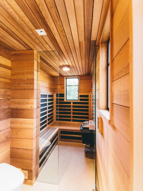 Infrared sauna design ideas remodel pictures houzz for Cost to build a sauna