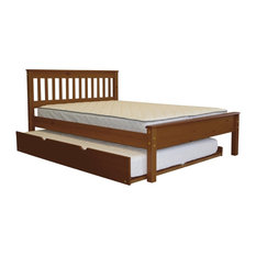 Bedz King Mission Style Full Bed with a Full Trundle in Espresso