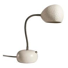Porcupine Desk Lamp, White, Line Pattern